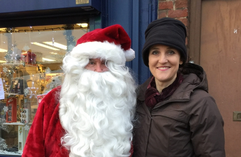Christmas in East Barnet with Theresa Villiers and Father Christmas