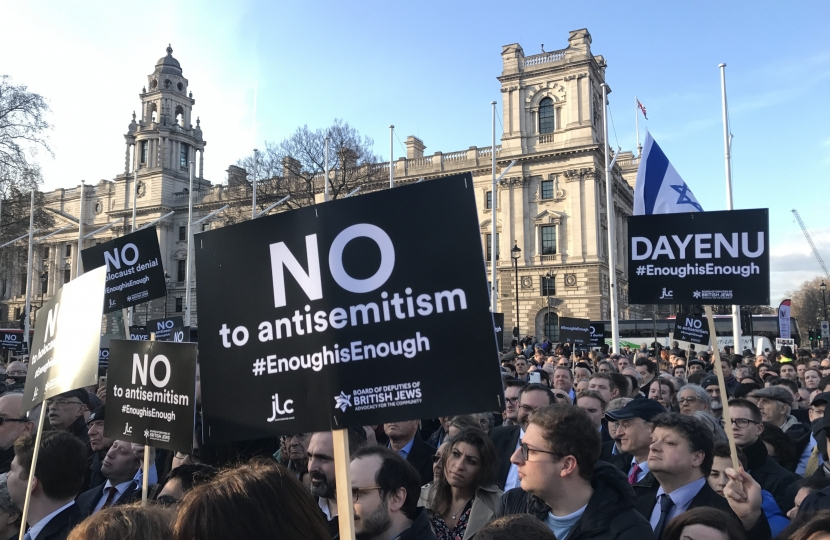 anti-Semitism rally