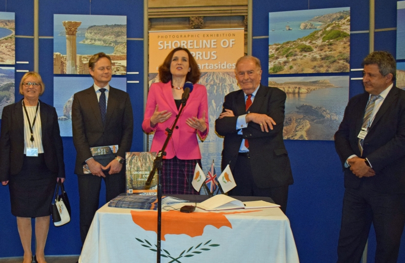 Theresa Villiers Cyprus event