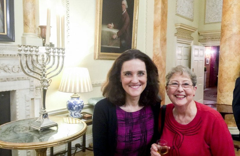 Chanukah at Downing Street with Theresa Villiers MP