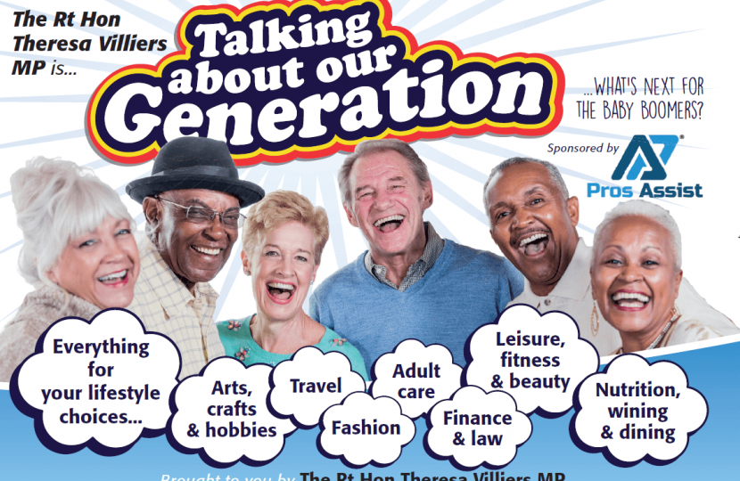 Event for 50s and upwards generation