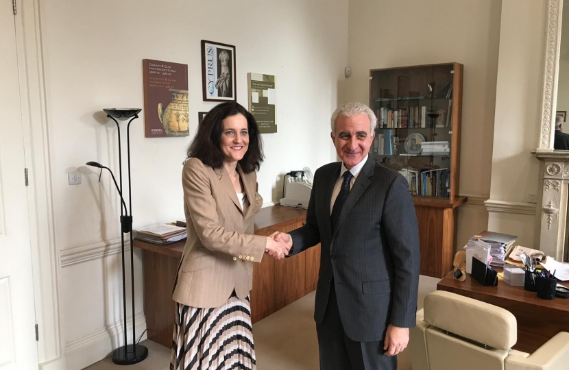 Theresa Villiers meets Cyprus High Commissioner