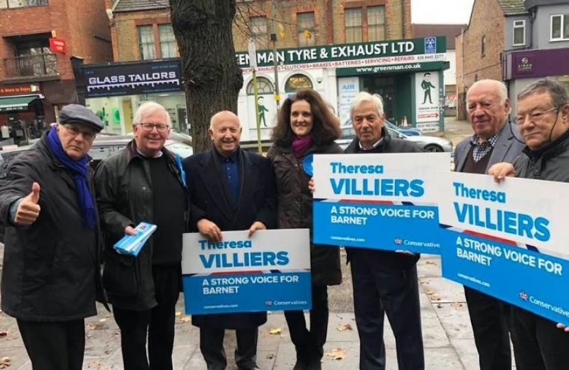 Cypriot support to re-elect Theresa Villiers