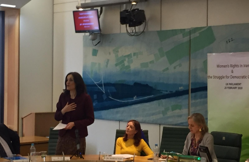 Theresa Villiers speech about International Women's Day