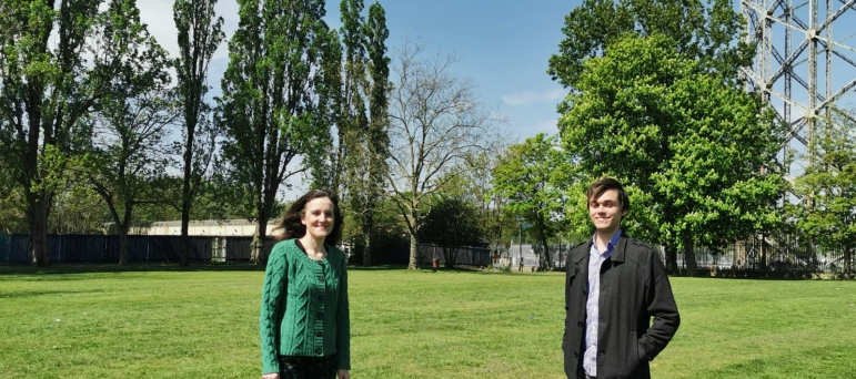 Theresa Villiers and Felix Byers campaign against high rise flats in New Barnet