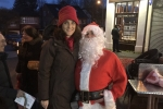 Theresa Villiers meets Santa in Woodside Park