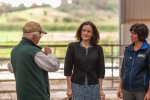 Theresa Villiers visiting a farm in Wales